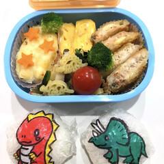 かわいい/恐竜/お弁当/みんなのお弁当 毎月1回ある、保育園のお弁当の日。 恐竜…