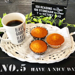 ブラックコーヒー/マドレーヌ/おうちカフェ/スイーツ/ダイソー/セリア/... 今日のおうちカフェはマドレーヌです☕✧混…
