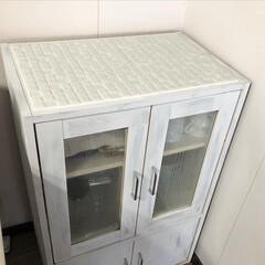 モザイクタイル プチコレガラスMIX ホワイト   藤垣窯業(その他建築用タイル)を使ったクチコミ「モニターをさせていただいたタイルシートで…」(2枚目)
