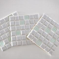 モザイクタイル プチコレガラスMIX ホワイト | 藤垣窯業(その他建築用タイル)を使ったクチコミ「モニターをさせていただくことになった「プ…」