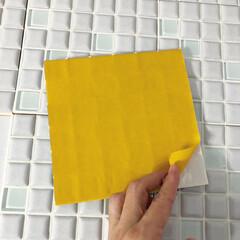 モザイクタイル プチコレガラスMIX ホワイト   藤垣窯業(その他建築用タイル)を使ったクチコミ「モニターをさせていただいたタイルシートで…」(3枚目)