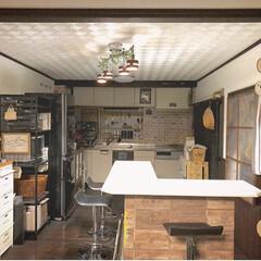 キッチン全体/夜のキッチン/キッチン/キッチン雑貨 みんなが寝静まった後の、夜のキッチン全体…(1枚目)