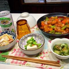 晩ごはん/酢豚/夏野菜/おうちごはん/簡単レシピ/LIMIAごはんクラブ/... 実家の家庭菜園で母が野菜を作っています。…(1枚目)