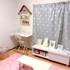 模様替え/女の子部屋/子ども部屋/雑貨/ハンドメイド/DIY/... 今日は娘の部屋の模様替えを手伝いました😊…