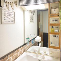 掛ける収納/狭い洗面所/洗面台収納/洗面台/ダイソー/セリア/... 我が家の狭くて収納の少ない洗面台。 歯ブ…