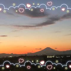 あ散歩/綺麗な富士山🗻/夕方の富士山🗻/今朝の富士山🗻 今朝6時45分頃の富士山🗻と 夕方5時2…(4枚目)