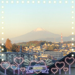 あ散歩/綺麗な富士山🗻/夕方の富士山🗻/今朝の富士山🗻 今朝6時45分頃の富士山🗻と 夕方5時2…