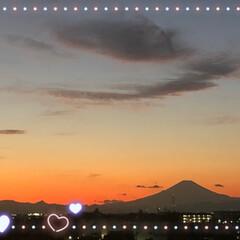 あ散歩/綺麗な富士山🗻/夕方の富士山🗻/今朝の富士山🗻 今朝6時45分頃の富士山🗻と 夕方5時2…(3枚目)