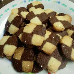 てづくり/お菓子/フード/グルメ/お菓子作り/アイスボックスクッキー/... クッキー作りに挑戦!初めてにしてはうまく…