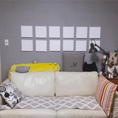 カラフルインテリア/カラフル/セルフペイント壁/手作り/ファブリックパネル/DIY/... 構想してからはや数ヶ月… やっとこ出来た…(4枚目)