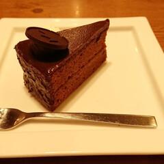 チョコレート/チョコケーキ/ケーキ/スイーツ/グルメ/スイーツ男子 疲れた後のチョコケーキ最高(*´∀`)