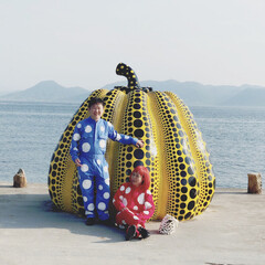 思い出の場所/水玉/水玉つなぎ/香川県/直島/南瓜/... 香川県の島全体がアートになっている直島へ…