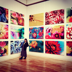 美術館/花のある暮らし/アート/おでかけ/旅行 蜷川実花さんの個展 作品の美しさにうっと…
