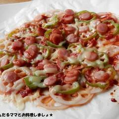 簡単/ピザ/おつまみ/糖質オフ/ヘルシー/健康/... フライパンで簡単に作れる、レンコンのピザ…