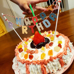 旦那の誕生日/料理好きな人と繋がりたい/手作りケーキ/ニムキッチン パパにゃへ  お誕生日おめでとう🎁🎂 結…(4枚目)