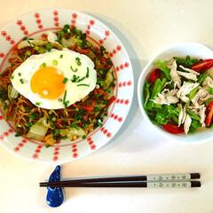 ニムキッチン/料理練習中 旦那さんのランチセットは手作りミーゴレン…