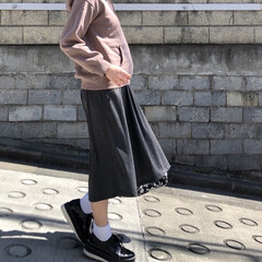 マタニティ/妊婦/マタニティコーデ/妊婦コーデ/ファッション マタニティスカート。 肌触りもよくてはき…