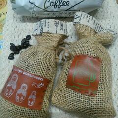 コーヒー豆/雑貨/ハンドメイド 口に合わなかったコーヒー豆。麻を縫って香…