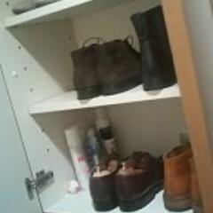 靴の収納 私は春夏用と秋冬用で入れ替えて、夫はその…