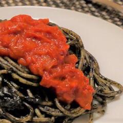 ヨーロッパ/シチリア/パスタ/スパゲッティ/トマト/ソース/... 非公開レシピの料理です。  シチリアにあ…