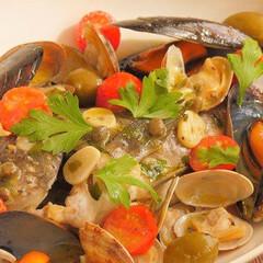 おうちごはん/クックパッド/魚介/トマト/オリーブ/アクアパッツァ/... 家庭でも作れる本格的なアクアパッツァ  …