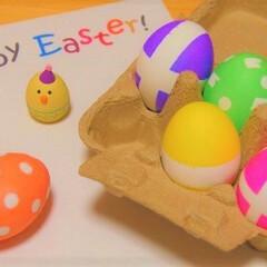 卵/イースター/イースターエッグ/YouTube/クックパッド/おうちカフェ/... 🐣飾って食べれるイースターエッグ🐣  ゆ…(1枚目)