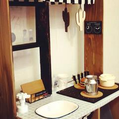 キャンドゥ/キッズキッチン/カラボ/カラーボックス/おままごとキッチン/DIY/... すのこ×カラーボックスで、おままごとキッ…(7枚目)