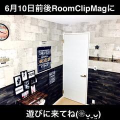 男前インテリア/フックDIY/壁紙屋本舗さん/スノコDIY/パスポート/100均/... RoomClipMagに遊びに来てね(❁…