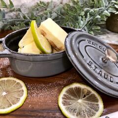 おうちカフェ/staub/ストウブココット/レアチーズケーキ/ももたくママ/フード/... わが家のレモン香るレアチーズケーキ😊  …