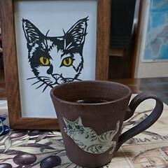 猫ちゃんカップ/珈琲 おはようございます‼️ 台風ヤバいかも(…