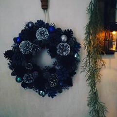 猫さん大好き/お洒落/ブルー/ダイソー/ハンドメイド/雑貨/... 本日はシックなブルーで統一したクリスマス…(3枚目)
