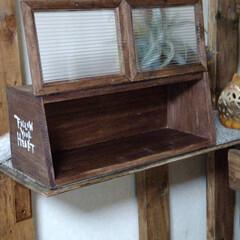 ハンドメイド/お家時間/木工雑貨/カフェ風ブレッドケース/棚/書斎/... GWお家時間DIYで切り出した作品仕上げ…(3枚目)