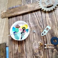 お家時間/木を大切に/時計DIY/シーグラス/ハンドメイド/手作り/... こちらは、以前廃材でDIYしました、時計…(3枚目)