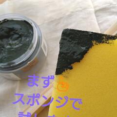 ソリッドカラー 90g SC-08 オリーブグリーン水性ペースト状ニス ウッドアトリエ  ワックス感覚で使える 800828 屋内木部用  | 和信ペイント(Washi Paint)(ニス、ステイン)を使ったクチコミ「LIMAのモニターキャンペーンに当選しま…」(3枚目)