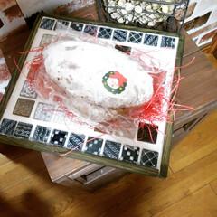 タイル雑貨/北海道/パン屋さん/シュトーレン/メリークリスマス🎄/ハンドメイド/... メリークリスマス🎄 毎年ですが、パパと二…(2枚目)