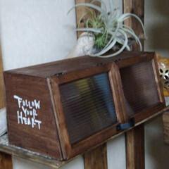 ハンドメイド/お家時間/木工雑貨/カフェ風ブレッドケース/棚/書斎/... GWお家時間DIYで切り出した作品仕上げ…(2枚目)