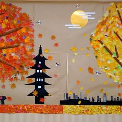 京都/紅葉/デイサービス/ハンドメイド おはようございます🤗 秋をテーマにデイサ…