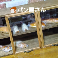カフェ風キッチングッズ/木工雑貨/北海道/猫さん大好き/ブレッドケース/カフェ風インテリア/... ブレッドケース! まだ、未完成なんですが…(2枚目)