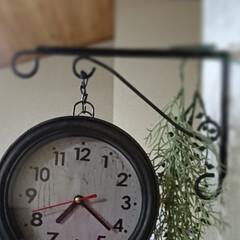 アンティーク/壁掛け時計リメイク/アイアンペイント/ダイソー/100均/DIY/... 今日は前から気になっていた、アンティーク…(2枚目)