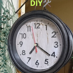 アイアンペイント/アンティーク/ダイソー/100均/DIY/雑貨/... ダイソー500円壁掛けアンティーク時計D…(2枚目)