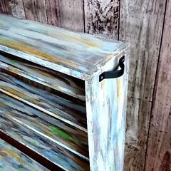 ペイントラック/DIY収納/簡単/雑貨/おしゃれ/暮らし/... ペイントラック完成‼️ 移動しやすいよう…(2枚目)