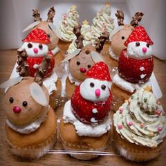 クリスマス/カップケーキ/クリスマスデコレーション クリスマスカップケーキ💎💫🌟