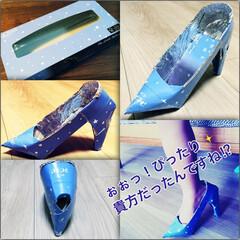 紙で靴作り/ティッシュの空箱/空箱/ハンドメイド 【廃材工作『シンデレラのガラスの靴』】テ…