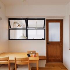 ダイニング/キッチン/ダイニングキッチン/室内窓/家族団らん/採光
