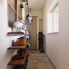 玄関/土間/収納/靴収納/タイル/室内窓/...
