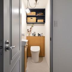 トイレ/棚/手洗い場/リノベーション/マンション