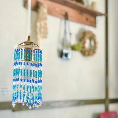 LEDライトリメイク/ビーズランプ/リミアな暮らし/セリア/100均/DIY/... 去年作ったビーズランプ。  ビーズ以外は…