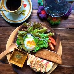 レトロ食器/コーヒー好き/ワンプレート/朝ごパン/朝ごはん/LIMIAごはんクラブ/... 2019.10.14 今日の朝ごパン  …
