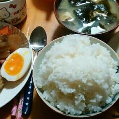 煮卵/煮魚/角煮/わたしのごはん/グルメ/100均/... 私家の夕飯🍴  昨日から煮てた角煮と大根…