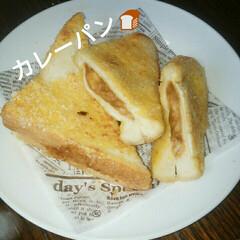 食パン/レトルトカレー/カレーパン/フード/グルメ 時短。 食パンとレトルトカレーでカレーパ…